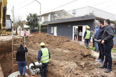 Nardini dio comienzo a obras hidráulicas por 100 millones de pesos