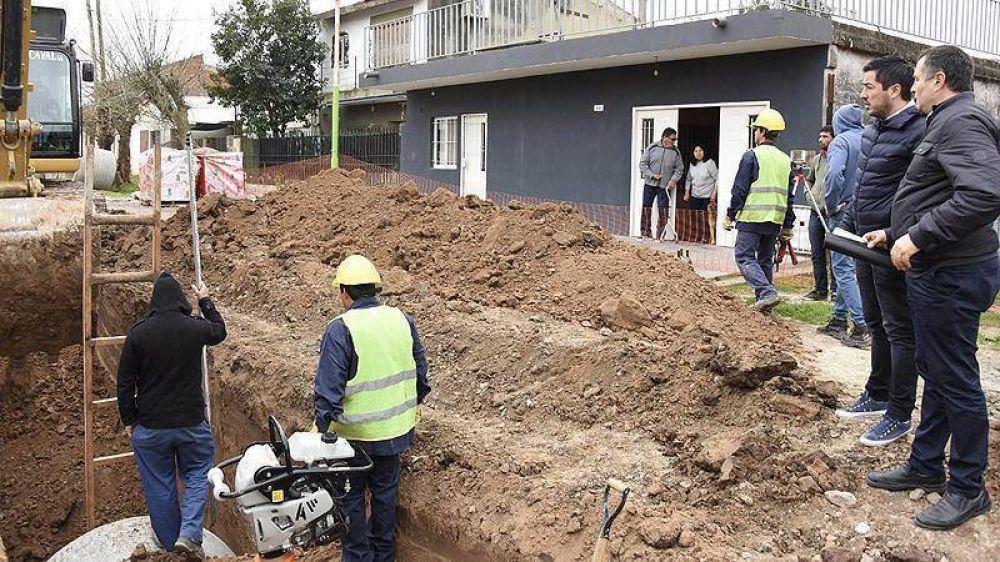 Nardini dio inicio a una serie de obras hidráulicas por más de cien millones de pesos