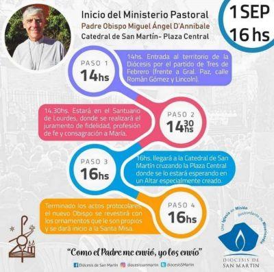 Mons. D`Annibale inicia mañana su ministerio pastoral en la diócesis de San Martín