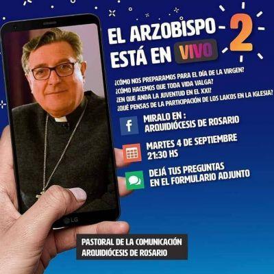 Mons. Martín responderá preguntas en vivo, por Facebook
