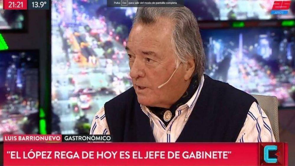 """Luis Barrionuevo habló del """"nuevo López Rega"""" y de """"cómo enfriar la plata para que no te la coman los ratones"""""""