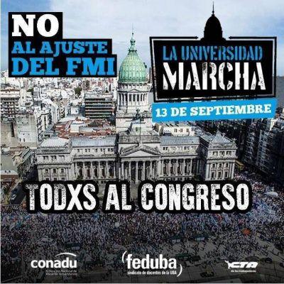 Conflicto universitario: convocan a un paro nacional y movilización a Congreso