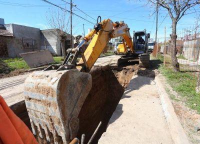 Esteban Echeverría: avanzan las obras hídricas en Monte Grande