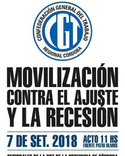 """Moviliza la CGT Córdoba y denuncia que en los últimos meses sólo en construcción y calzado hubo """"más de mil"""" despidos"""