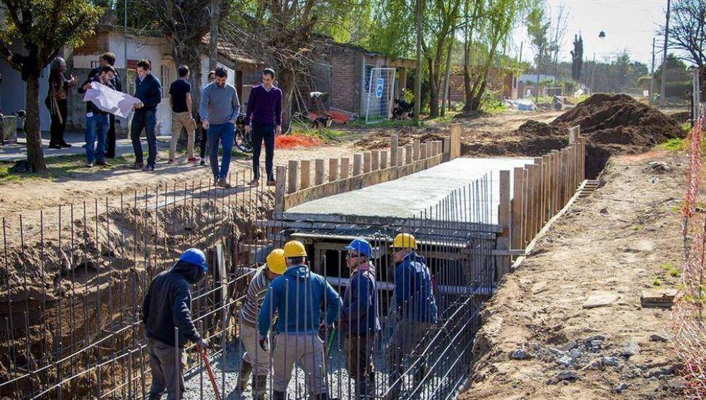 Avanza la mega obra del desagüe pluvial norte en Junín