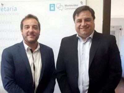 El diputado Manino Iriart en Uruguay con representantes internacionales