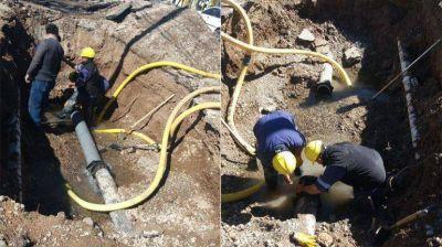 El acueducto de Godoy y Moritán ya está reparado