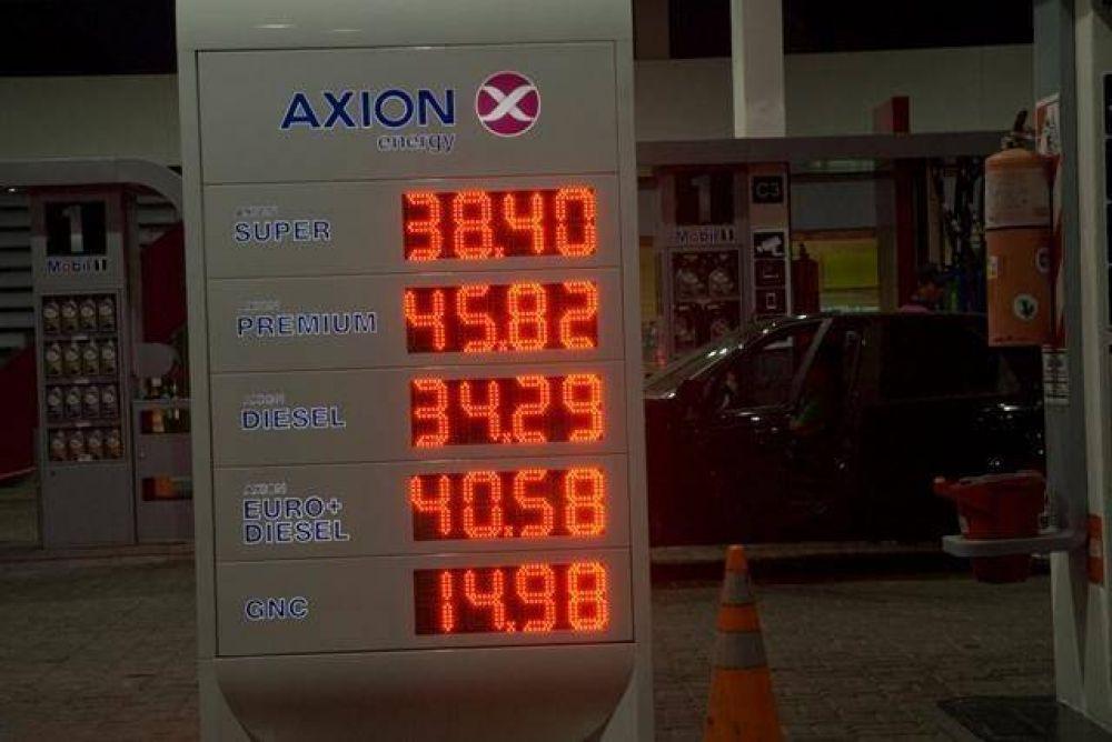 Axion bajó el precio de las naftas un 1%