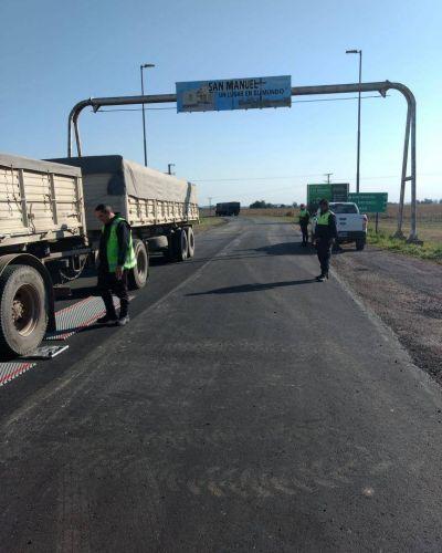 Identifican 7 camiones con exceso de peso en ruta 88
