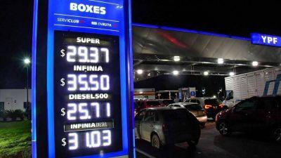 Publicarán listas de precios sugeridos para los combustibles