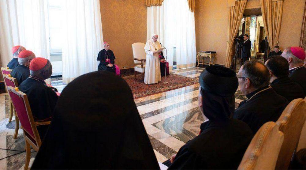 El Papa advierte: Se corre el riesgo de que el cristianismo desaparezca de Oriente Medio