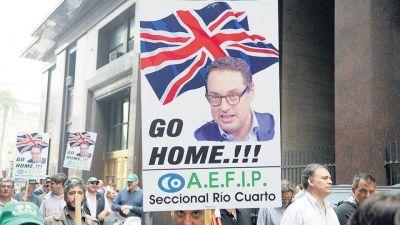 Protesta contra los recortes en la AFIP