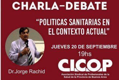 """Charla-Debate """"Políticas Sanitarias en el contexto actual"""""""