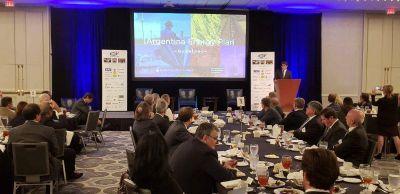 Iguacel expuso en un seminario internacional sobre inversiones en Vaca Muerta