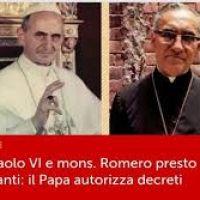 Falta menos de un mes para canonización de Mons. Romero