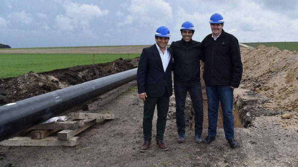 """Gasoducto Barker-Necochea: """"La obra permitirá cerca de 7000 conexiones nuevas en el Distrito"""""""