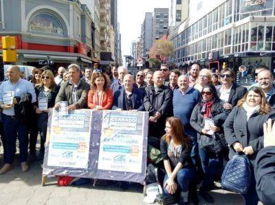 Bianchi en recorrida concientizando sobre el Día del Empleado Mercantil