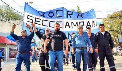 La UOCRA Campana salió a la calle para repudiar el modelo económico de Cambiemos