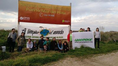 "Greenpeace se sumó ""A Limpiar el Mundo"" en la Reserva del Puerto"