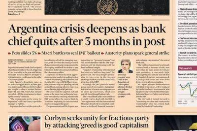 Los medios del mundo hablaron de la profundización de la crisis de la Argentina