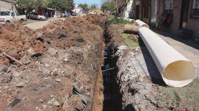 VGG: obras de desagüe en Avenida Juan D. Perón