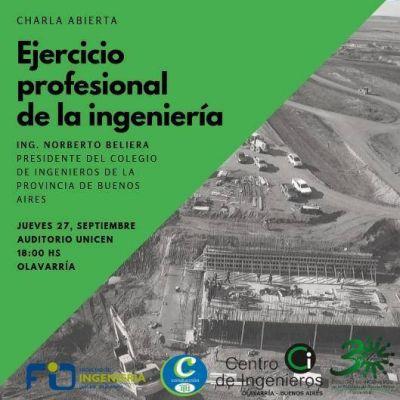 El Presidente del Colegio de Ingenieros este jueves en Olavarría