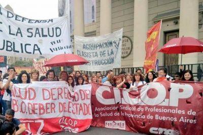 Médicos bonaerenses lanzan paro por 48 horas y convocan a la Marcha Federal de la Salud Pública