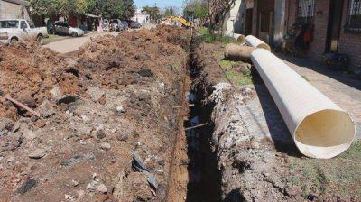 Realizan obras de desagües en Villa Gobernador Gálvez