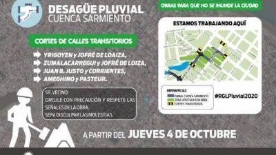 Pluviales 2020: A partir de mañana los trabajos se trasladan a calle Jofré de Loaiza, Yrigoyen, Ameghino y Juan B. Justo