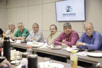El Frente Sindical se reunió con Alfonsín y suma adhesiones contra el gobierno