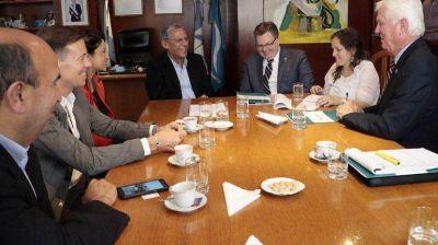 Quiroga recibió a funcionarios de Energía de Estados Unidos