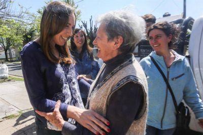 María Eugenia Vidal encabezó un nuevo timbreo de Cambiemos en territorio bonaerense