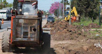 En el sur de Recreo progresa la obra que suministrará agua potable