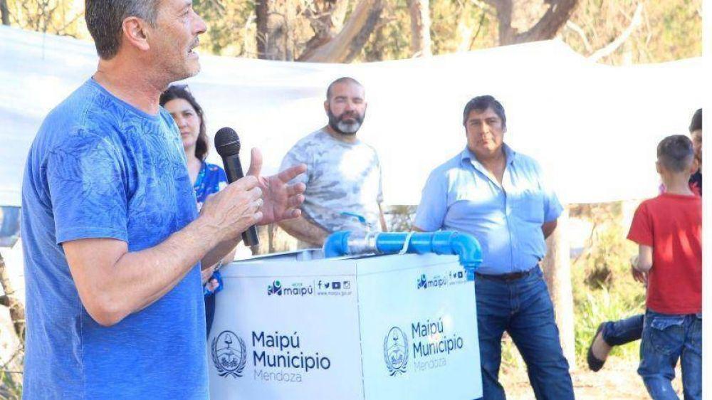 Maipú habilitó agua potable para 150 familias