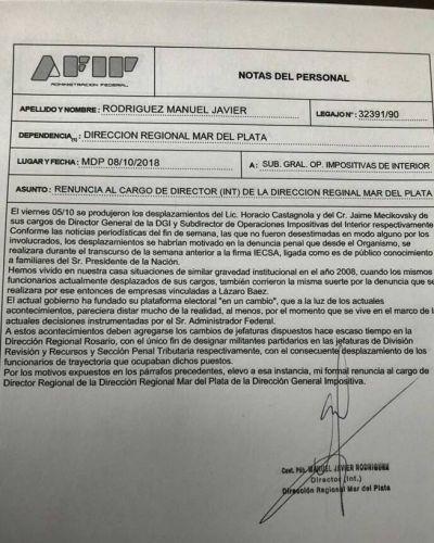 Renunció el jefe de AFIP Mar del Plata por no poder investigar a IECSA
