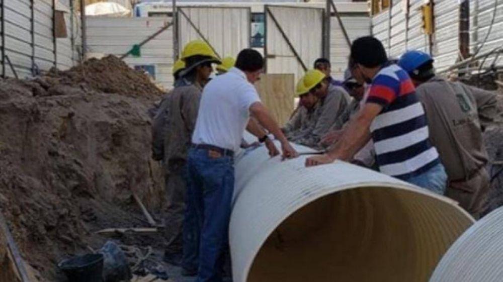 Sáenz destacó el avance de obra del Canal España