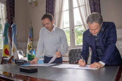 Abella firmó un convenio de colaboración mutua con el Ministro de Justicia Bonaerense