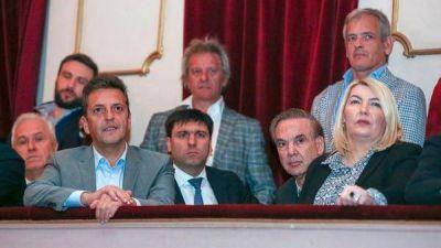 Sergio Massa junto a Miguel Ángel Pichetto, Diego Bossio y Rosana Bertone: