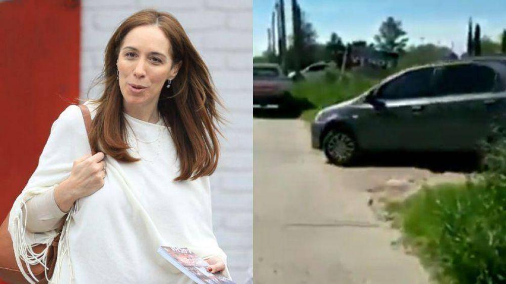 Escracharon a María Eugenia Vidal durante una visita a Chascomús