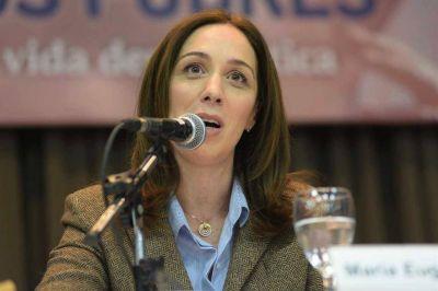 Vidal quiere fijar un tope a los gastos de la Legislatura bonaerense