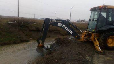 Obras Sanitarias realizó operativo de limpieza y desobstrucción de pluviales