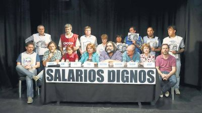 En huelga por salarios dignos