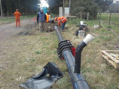 Acueducto Oeste: sostenido ritmo de obra para potenciar reservas y sumar a más de 45 mil vecinos al servicio