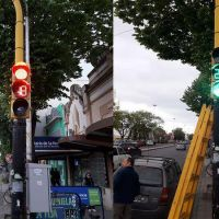 Implementan semáforos con led de alta visibilidad en pleno centro