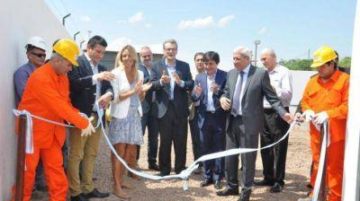 Inauguraron una red cloacal y planta de tratamiento en Forres