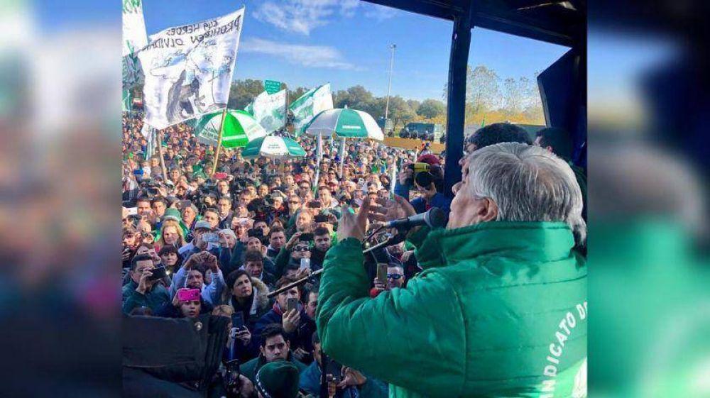 El Frente Sindical marcha a Luján para mostrar su poder y su cercanía al Papa