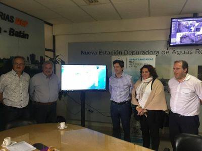 Fuerte respaldo de Nación a gestión del municipio y OSSE sobre el servicio sanitario