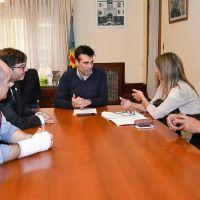 López, junto a la nueva gestión de la Delegación Necochea del Colegio de Escribanos de la Provincia