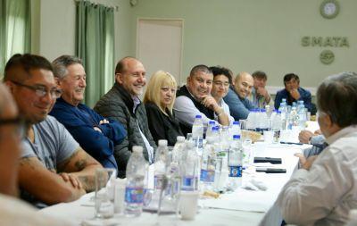 Perotti se reunió con referentes sindicales de Rosario