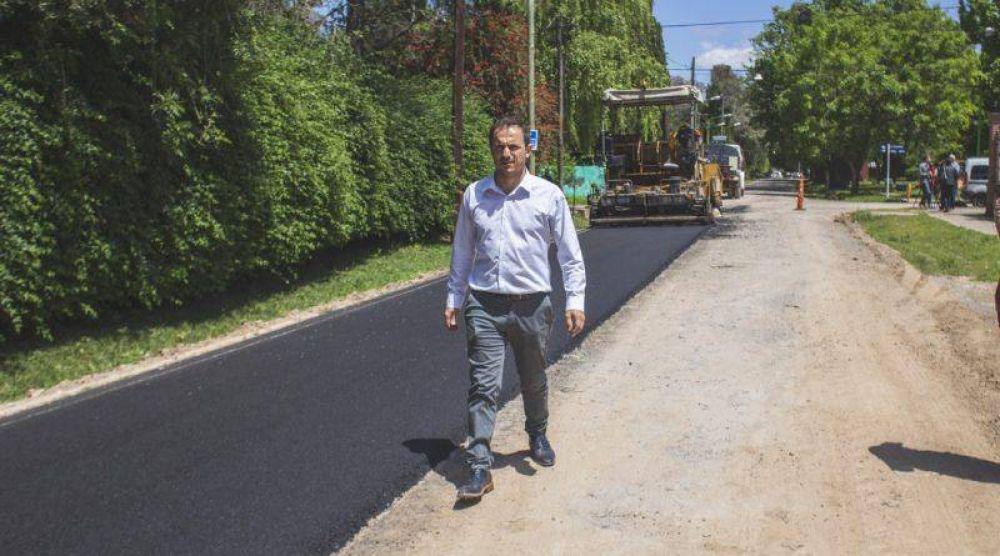 Comenzaron las obras de asfalto en San Jacinto